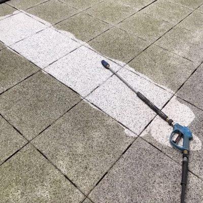 Reinigen vloer parkeergarage